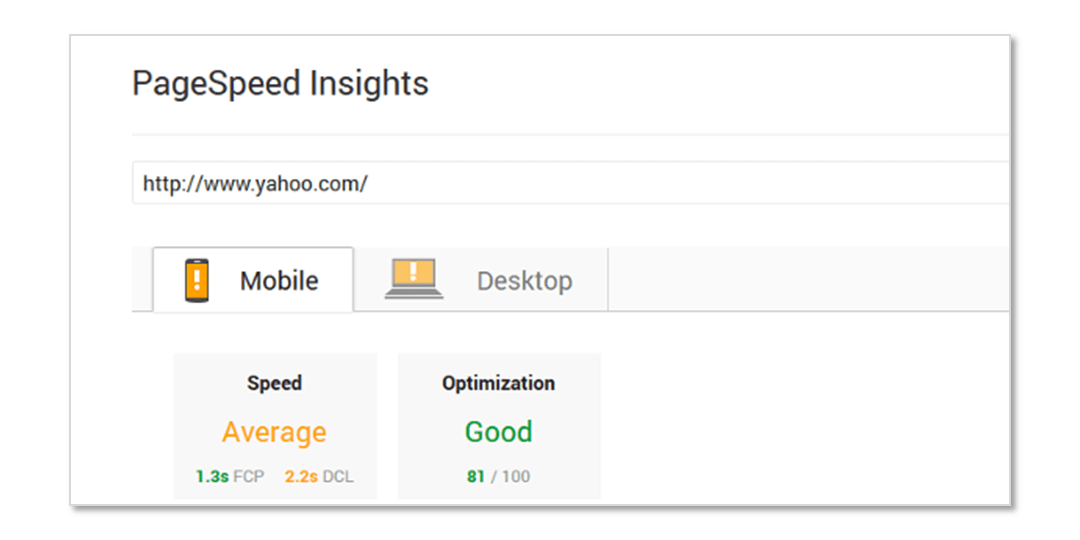 Basic SEO - PageSpeed Insights